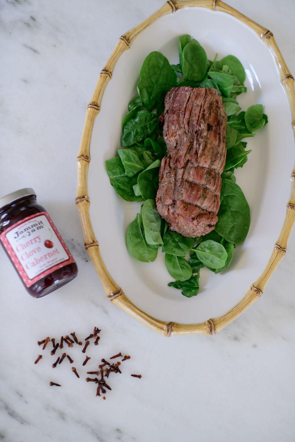 Cherry Clove Cabernet Glazed Beef Tenderloin