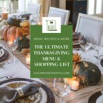 Printable Thanksgiving Menu and Shopping List