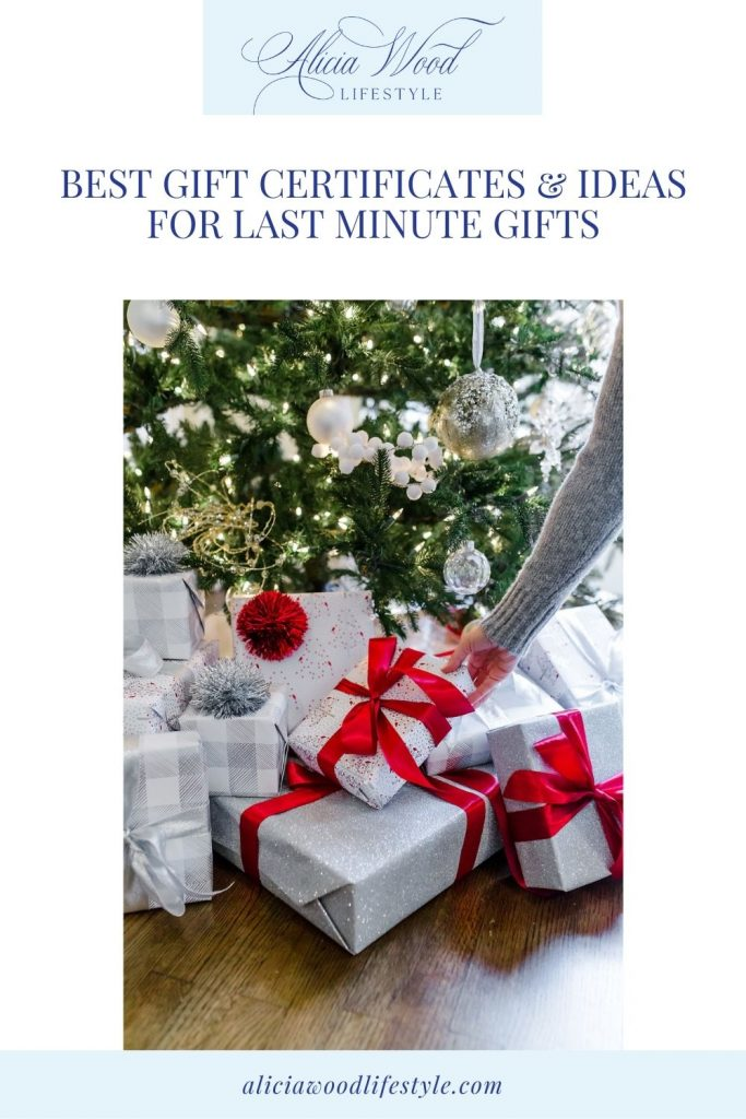 Best Gift Certificates and Last Minute Gifts