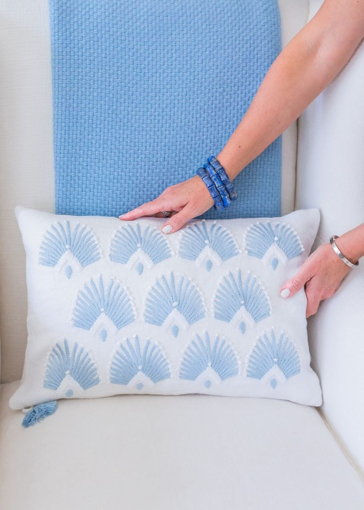 Alpaca Throw, Serena and Lily embroidered Pillow, Serena and Lily Accessories