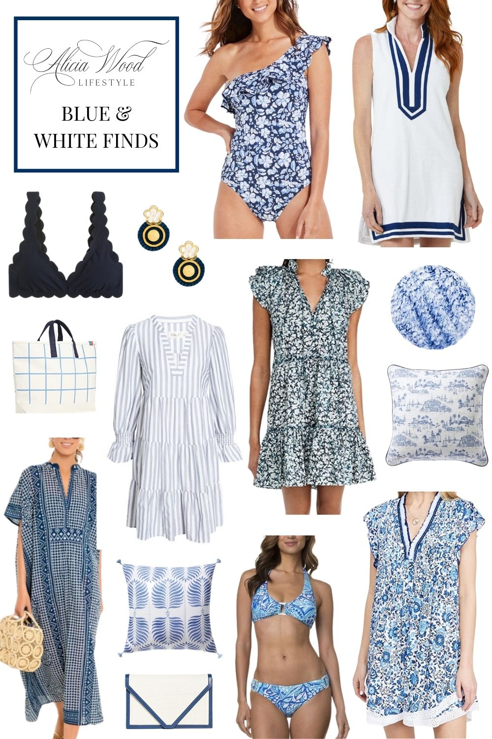 Color Crush: Blue and White